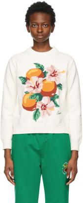 Casablanca White La Fleur DOranger Sweater