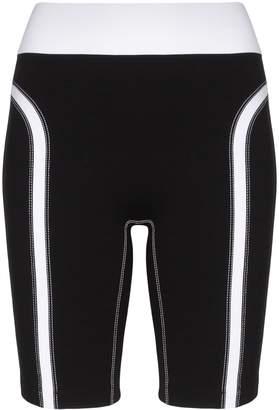 NO KA 'OI No Ka' Oi high-waisted contrast detail cycling shorts