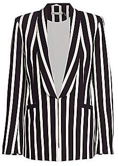 Alice + Olivia Women's Skye Striped Open-Front Blazer