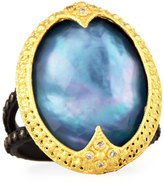 Armenta Old World Triplet Ring w/ Mixed Diamonds, Size 7