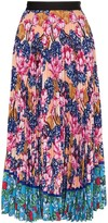 Mary Katrantzou floral print pleated midi skirt