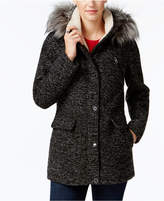 Nautica Faux-Fur-Trim Hooded Coat