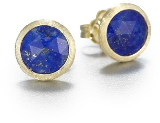 Marco Bicego Jaipur Resort Lapis & 18K Yellow Gold Stud Earrings