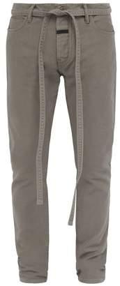 Fear Of God Slim-leg Cotton Jeans - Mens - Grey