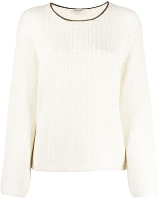 Saint Laurent Knitted Long-Sleeve Jumper