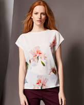 Ted Baker Chatsworth Bloom woven front Tshirt