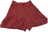 Chanel Red Cotton Shorts for Women