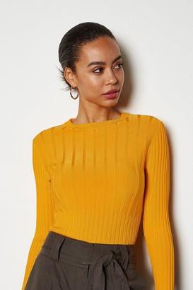 Karen Millen Luxe Rib Knit Jumper