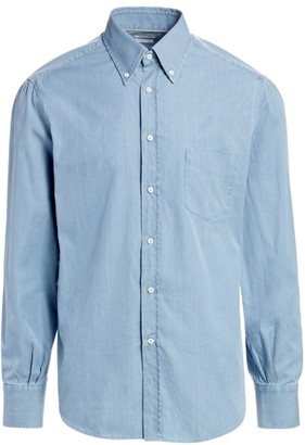 Brunello Cucinelli Basic-Fit Chambray Shirt