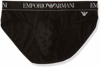 Emporio Armani Men's Premium-Shiny Logo Band Brief Boxer