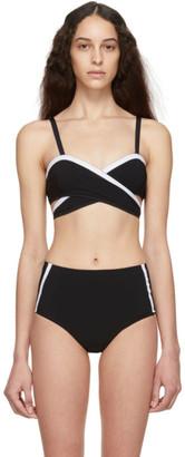 WARD WHILLAS Reversible Navy Bernadette Bikini Top