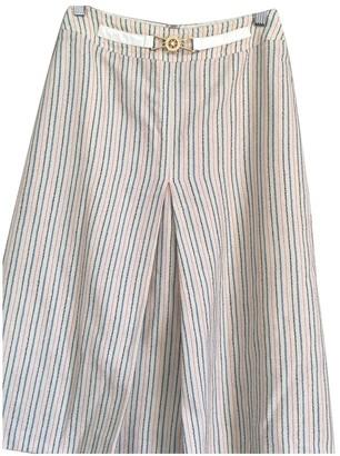 Celine Beige Wool Skirt for Women Vintage