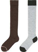 Uniqlo Women Heattech Knee High Socks 2 Pairs (Pile)