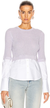Veronica Beard Kaley Mixed Media Sweater in Lilac | FWRD