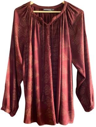 Antik Batik Burgundy Top for Women