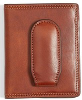 Bosca Men's Leather Front Pocket Money Clip Wallet - Brown