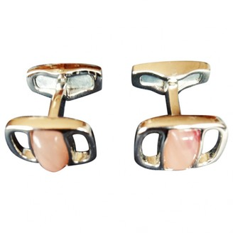 Salvatore Ferragamo Pink Steel Cufflinks