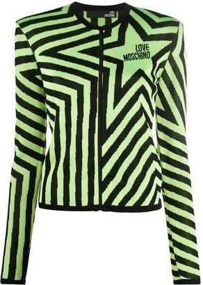 Love Moschino Star Print Zipped Cardigan
