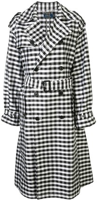 Polo Ralph Lauren checked trench coat