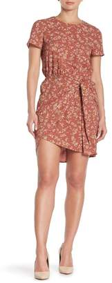 1 STATE 1.State Floral Short Sleeve High/Low Dress