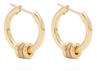 Spinelli Kilcollin Ara Diamond Pave & 18kt Gold Hoop Earrings - Gold