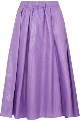 In.No Blair purple taffeta midi skirt