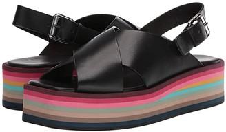 Paul Smith Becca Swirl Sole Sandal (Black) Women's Shoes