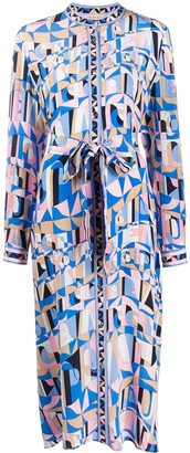 Emilio Pucci Abstract-Print Shirt Dress