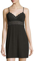 Cosabella Cylon Lace-Trim Babydoll Nightie, Black