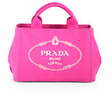 Prada Logo Printed Small Canvas Tote