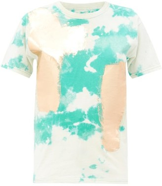 Germanier - Tie-dye Upcycled Cotton-jersey T-shirt - Green Multi