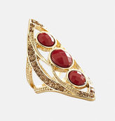 Avenue Merlot Marquise Stretch Ring