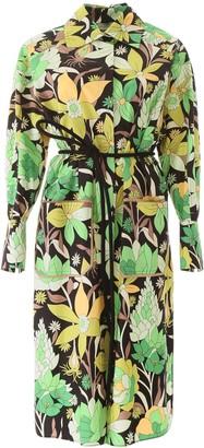 Fendi floral shirt dress