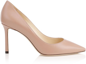Jimmy Choo ROMY 85 Ballet Pink Kid Leather Pointy Toe Pumps