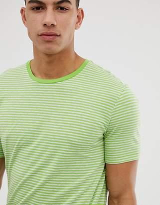 Benetton stripe t-shirt in green