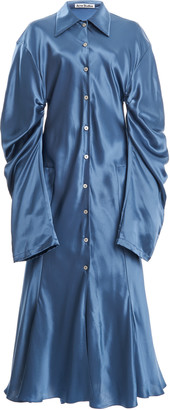 Acne Studios Delissa Draped Satin Midi Dress