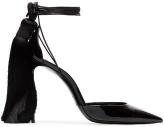 Saint Laurent Zoe 105 tassel heel patent leather d'Orsay pumps