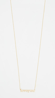 Jennifer Meyer 18k Gold Love You Necklace