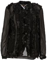 Comme des Garcons faux fur buttoned jacket - women - Acrylic/Modacrylic/Nylon/Polyester - L
