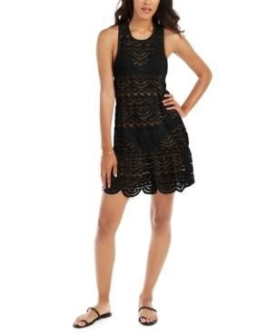 Miken Juniors' Crochet Racerback Dress Cover-Up, Created for Macy's Women's Swimsuit