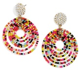 BaubleBar Clover Hoop Earrings