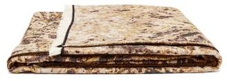Serapis Maritime - Thorn-jacquard Cotton Blanket - Brown