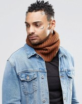 Asos Wool Mix Infinity scarf In Tobacco