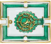 One Kings Lane Vintage Hermès Green Door Knocker Porcelain Tray