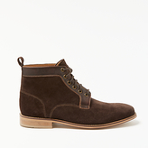 John Lewis Suede And Leather Boots, Brown