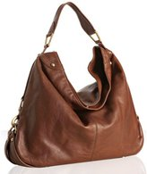 cocoa leather 'Nikki' hobo