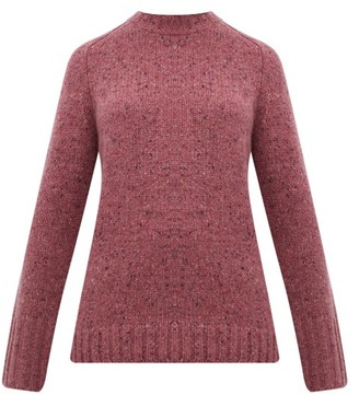 Gabriela Hearst Donegal Marled Cashmere Sweater - Womens - Pink