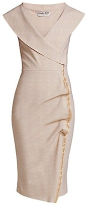 Chiara Boni Foldover Surplice-Neck Dress