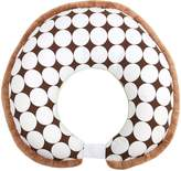 Bacati Green Velor with Chocolate Dots Nursing Pillow