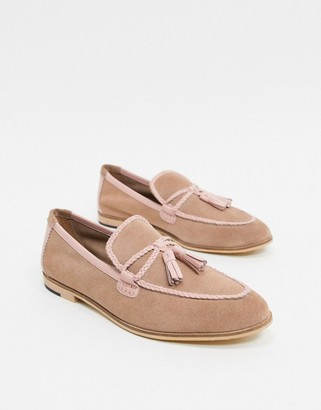 House of Hounds helix loafers in pink suede